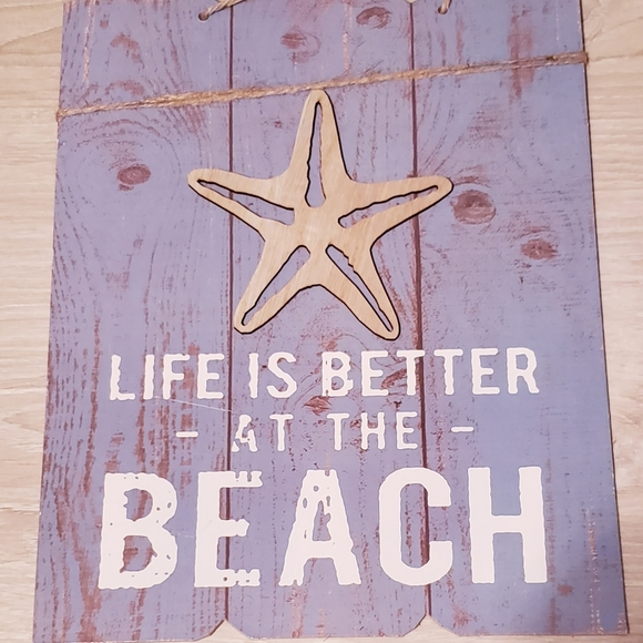LIFE IS BETTER AT THE BEACH - WALL DECO